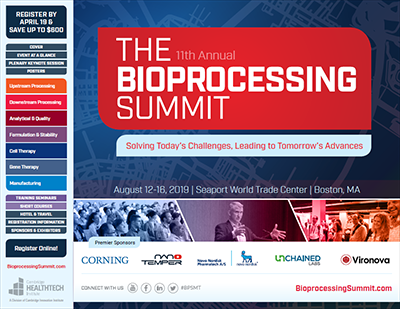2019 Bioprocessing Summit Brochure